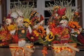 Autumn Scarecrow Basket