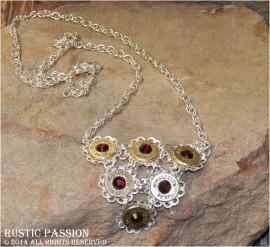 38Special Bib Filigree Necklace-Siam Crystals