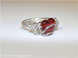 All Wrapped Up Red Heart Ring-Silver Filled